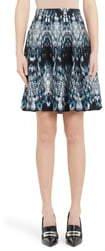 Alexander McQueen Crystal Jacquard Silk Blend Skirt