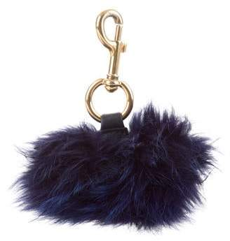 Marc Jacobs Faux Fur Keychain