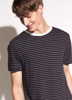 Striped Raw Edge T-shirt