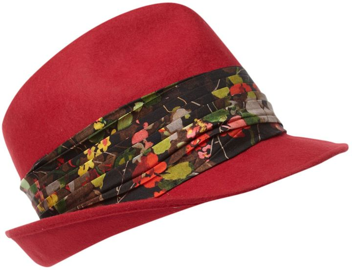 Paul Smith London Trilby with cadre print floral band