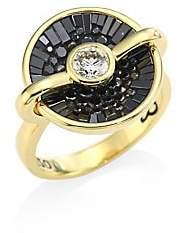 Black Diamond Plevé Plevé Opus Black Diamond& 18K Yellow Gold Round Ring