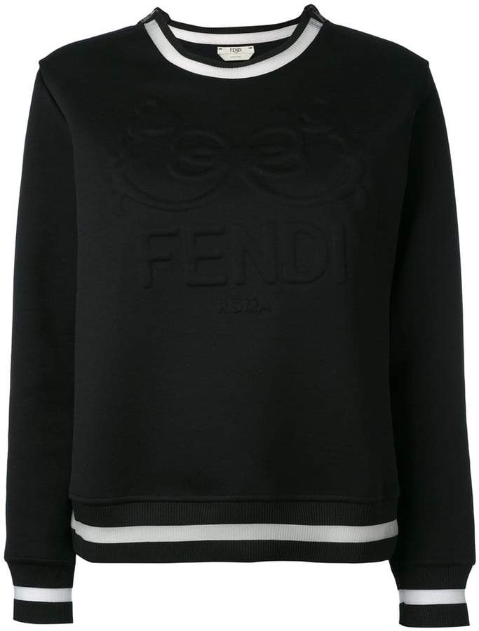 Fendi embossed logo sweatshirt