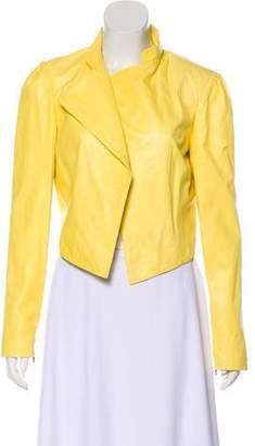 Alice + Olivia Cropped Asymmetrical Jacket