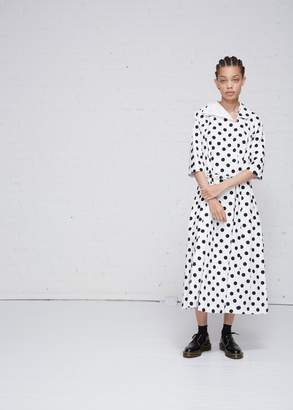 Comme des Garcons Belted Polka Dot Dress