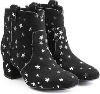 Laurence Dacade Suede Ankle Boots with Star Print