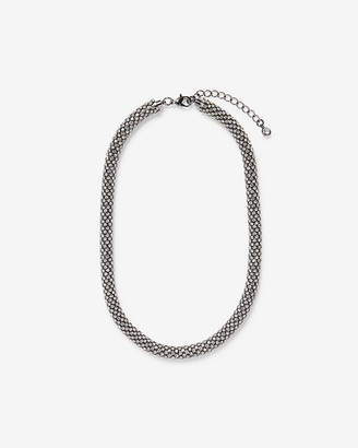 Express Bezel Crystal Rope Necklace