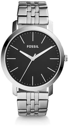 Fossil Luther Three-Hand Stainless Steel Watch