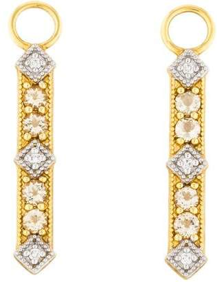 Jude Frances 18K Diamond & Citrine Earring Charms