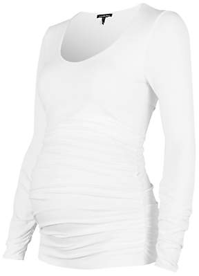 Isabella Oliver Scoop Neck Maternity Top, White
