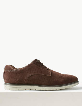 Marks and Spencer Suede Lace-up Derby Shoes