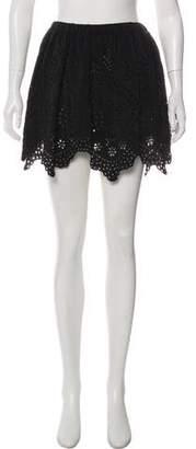 Ulla Johnson Eyelet Mini Skirt