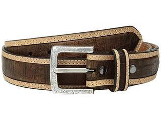Ariat Strap with Croc Print Center Inlay Belt