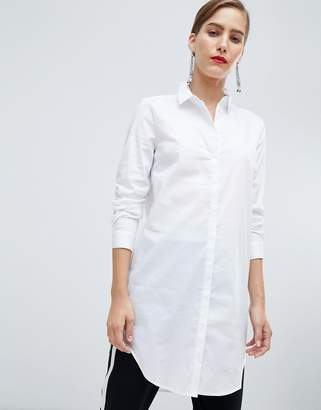 Pieces Button Longline Shirt