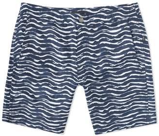 "Onia Calder 7.5"" Painted Waves Swim Short"