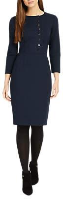 Phase Eight Leanne Button Dress, Indigo
