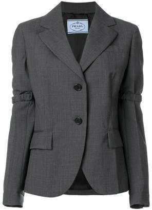 Prada elasticated detail blazer