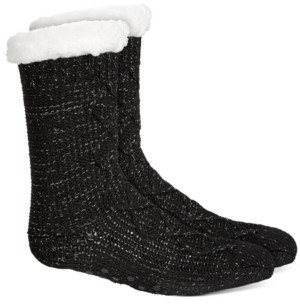 Charter Club Women's Slipper Socks With Faux-Sherpa Lining, Created For Macy's