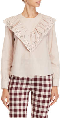 Paul & Joe Sister Ruffled Eyelet Top