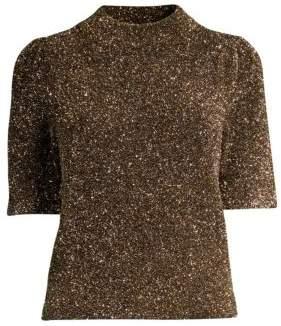 Kate Spade Dashing Beauty Metallic Textured Sweater