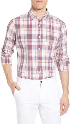 Mizzen+Main Brazos Slim Fit Madras Plaid Performance Sport Shirt