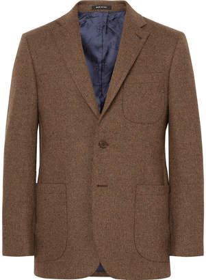 Noah Brown Slim-Fit Donegal Wool-Tweed Suit Jacket