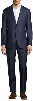 Saks Fifth Avenue Made In Italy Modern Fit Herringbone Wool Suit