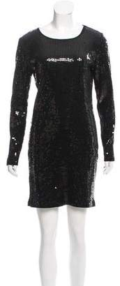 MICHAEL Michael Kors Sequin Long Sleeve Dress