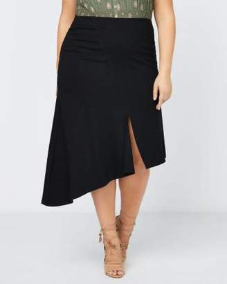 Penningtons Asymmetric Skirt with Slit - In Every Story