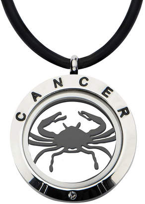 FINE JEWELRY Cancer Zodiac Reversible Stainless Steel Locket Pendant Necklace