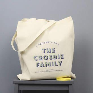 XOXO Personalised Family Shopping Bag