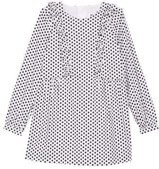 Milly Long Sleeve Polka Dot Dress