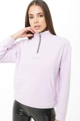Forever 21 Girl Crew Graphic Fleece Pullover