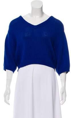 3.1 Phillip Lim Short Sleeve V-Neck Sweater