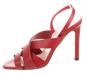 Sarah Jessica Parker Leather Multistrap Sandals