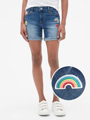 Gap Kids Embroidered Patch Midi Shorts