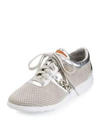 Cole Haan Bria Grand Sport Oxford Sneaker, Vapor Gray $150 thestylecure.com