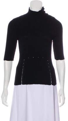 Nina Ricci Turtleneck Short Sleeve Top