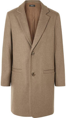 A.P.C. Carver Wool-blend Coat - Beige