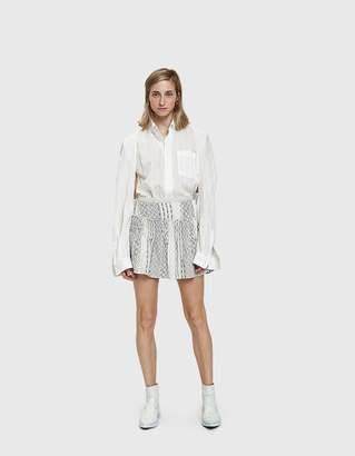 Farrow Goyave Smocked Mini Skirt