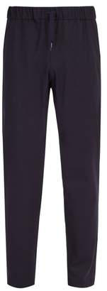 A.P.C. Kaplan Wool Blend Flannel Trousers - Mens - Dark Navy
