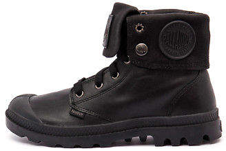 Palladium New Baggy M Black Leather Black Mens Shoes Casual Boots Ankle