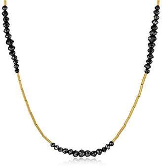 "Gurhan Dark Mist"" Black Diamond and High Karat Tube Necklace"