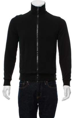 Gucci Piping Accent Zip-Up Sweater