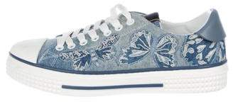 Valentino Denim Butterfly Sneakers