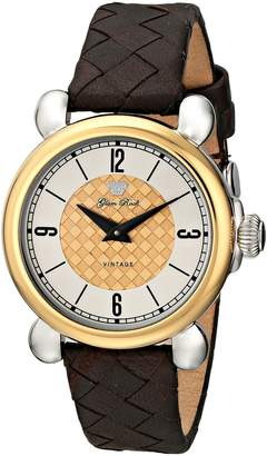 """Glam Rock Women's GR28052 """"Vintage Glam"""" Stainless Steel Watch with Gold-Plated Bezel"""