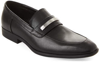 Calvin Klein Black Lathan Loafers