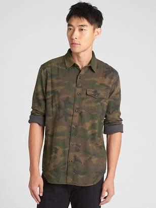 Gap Standard Fit Double-Face Shirt