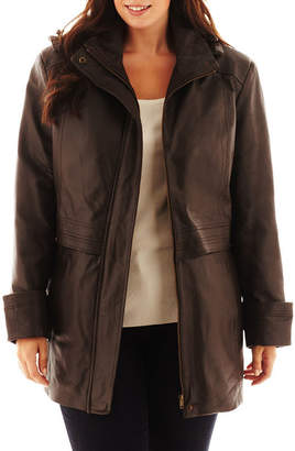 JCPenney Excelled Leather Excelled Hooded Anorak Jacket - Plus