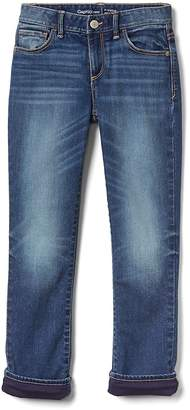 Gap Straight Jeans with Jersey Lining in High Stretch