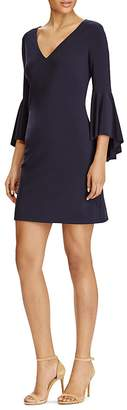 Lauren Ralph Lauren V-Neck Bell-Sleeve Dress $135 thestylecure.com